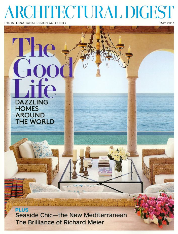 Architectural Digest Warm Welcome May 2013 Cover